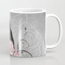 Wonderful crow with flowers Coffee Mug