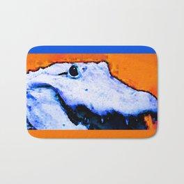 Gator Art - Swampy - Florida - Sharon Cummings Bath Mat