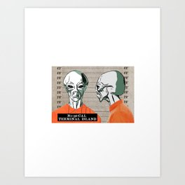 Alien Capone: Galactic Gangster Art Print