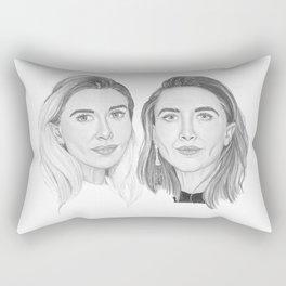 Olsen Twins B&W Rectangular Pillow