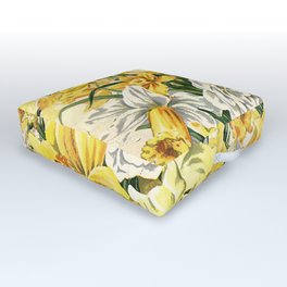 Wordsworth  and the daffodils. Outdoor Floor Cushion