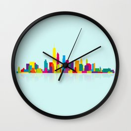 New WTC Skyline Wall Clock
