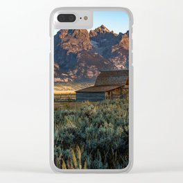 Wyoming - Moulton Barn and Grand Tetons Clear iPhone Case