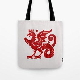 Medieval Red Dragon Tote Bag
