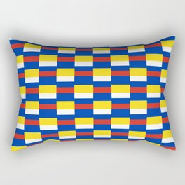 Mix of flag:  Russia and ukraine Rectangular Pillow