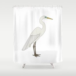 Heron bird Shower Curtain
