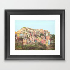 Colorful Houses Framed Art Print