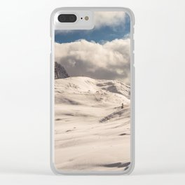 Italian Dolomites ready for winter season Clear iPhone Case