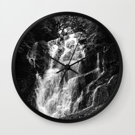 shiraito falls, fukuoka, Japan june 2018 (film photography) Wall Clock