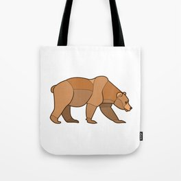 Shapely Brown Bear Tote Bag