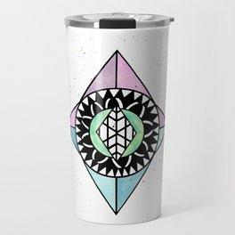 Diamond Shaped Mandala Travel Mug