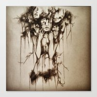depression Canvas Prints featuring Depression by J.E.M