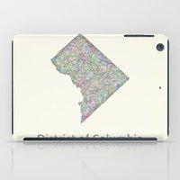 dc iPad Cases featuring DC map by David Zydd
