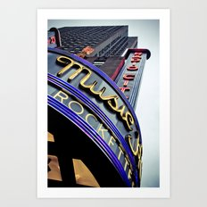 Radio City Music Hall Art Print