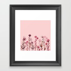 For Her ! Pink Flowers Framed Art Print