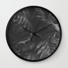 Colorless Fern Wall Clock