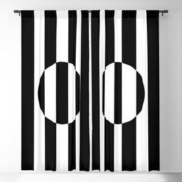Op Art Striped Circle Blackout Curtain