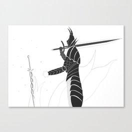 Black Knight, Bonefire Canvas Print