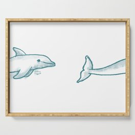 Dolphine Love Serving Tray