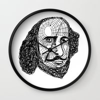shakespeare Wall Clocks featuring William Shakespeare by Feld Sprucetree