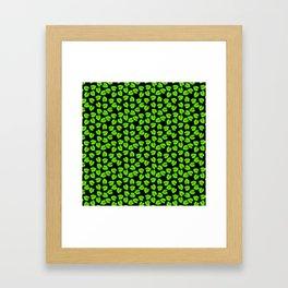 Giant  Bright Neon Green Monstera Tropical Jungle Leaves Framed Art Print