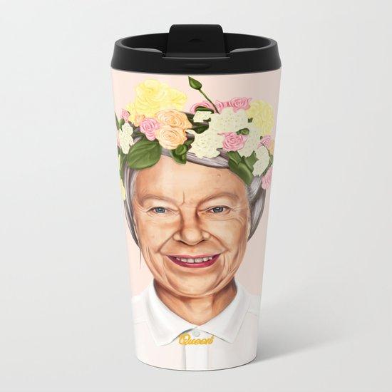 Hipstory - Queen Elizabeth Metal Travel Mug