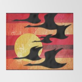 Sunset Migration Throw Blanket