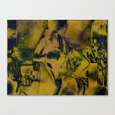 Cyber Dancer Gold Canvas Print
