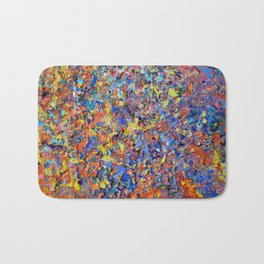Full Bloom - abstract palette knife acrylic nature landscape by Adriana Dziuba Bath Mat