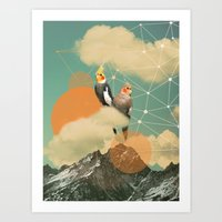 """Birds On A Cloud"" Art Print"