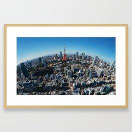 Tokyo Birdseye Framed Art Print