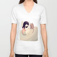friends V-neck T-shirts featuring Best Friends by Nan Lawson