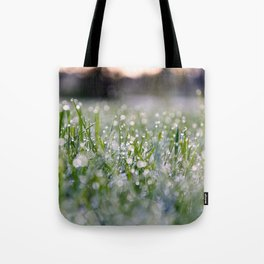 Dew Laden Grass 2 Tote Bag