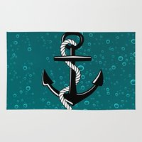 anchor Area & Throw Rugs featuring Anchor by Urlaub Photography