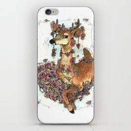 Deer in Flowers iPhone Skin