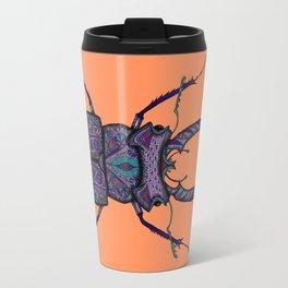 Psychedelic Stag Beetle  Travel Mug
