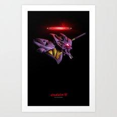 Evangelion Unit 01 - Rebuild of Evangelion 3.0 Movie Poster Art Print