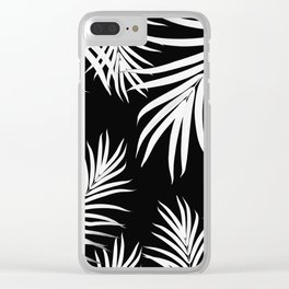 Palm Leaves Pattern Summer Vibes #4 #tropical #decor #art #society6 Clear iPhone Case