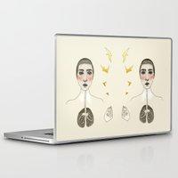 karu kara Laptop & iPad Skins featuring kara akciğer by Amylin Loglisci
