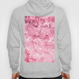Modern abstract pink white acrylic painting brushstrokes Hoody