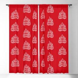 Scandinavian Folk Art Christmas Tree Blackout Curtain