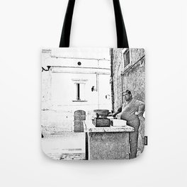 Vulture: fish vendor Tote Bag
