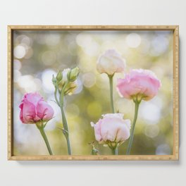 Rose Bokeh Serving Tray
