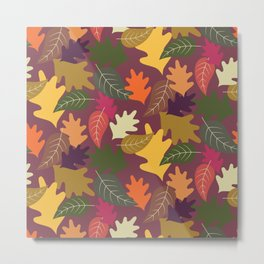 Autumn Time - Colorful leaves Metal Print