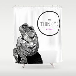 The Thinker, Mr Froggy Shower Curtain