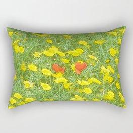 Watercolor poppies Rectangular Pillow