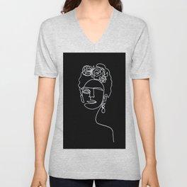 Frida Kahlo BW Unisex V-Neck