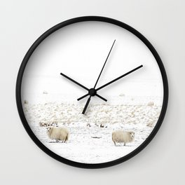 Icelandic Sheep I Wall Clock