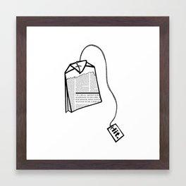 Literary Tea Framed Art Print