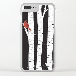Northern Cardinal Birds Clear iPhone Case